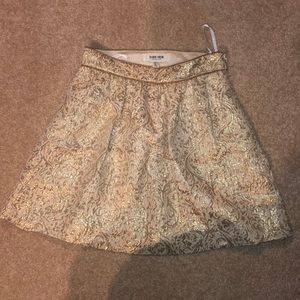 EVERNEW Gold mini skirt